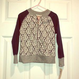 Other - Girls zip up, lightweight sweater